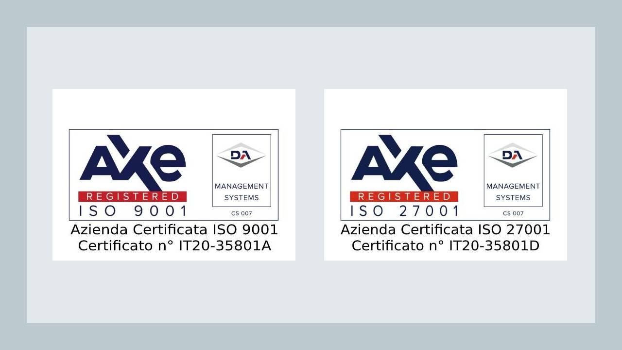 Webinteam consegue le Certificazioni ISO 9001:2015 e ISO/IEC 27001:2013